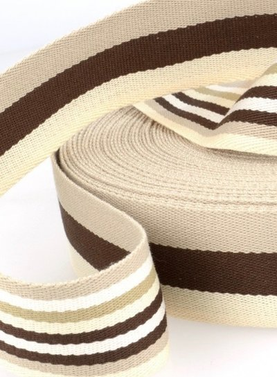 brown bag webbing - double sided