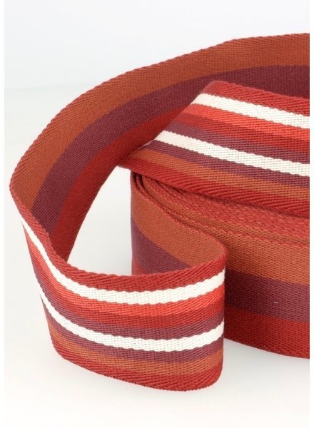 rood gestreept 40 mm dubbelzijdige tassenband