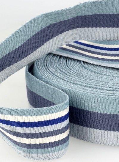 blue bag webbing - double sided