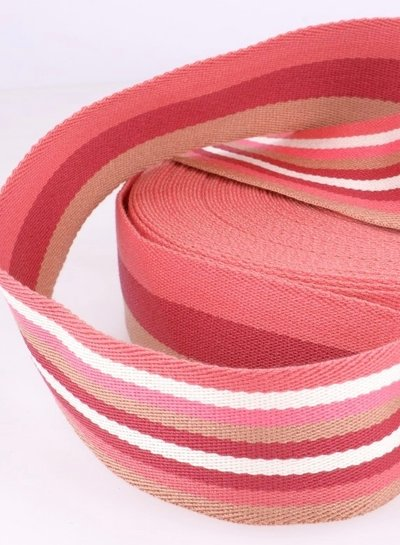 pink bag webbing - double sided