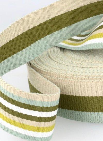 khaki bag webbing - double sided