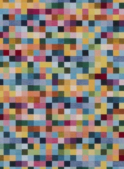 multicolored squares - gobelin