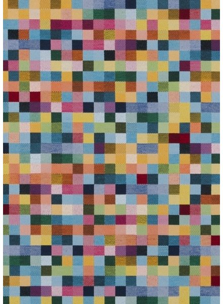 multicolored squares - gobelin