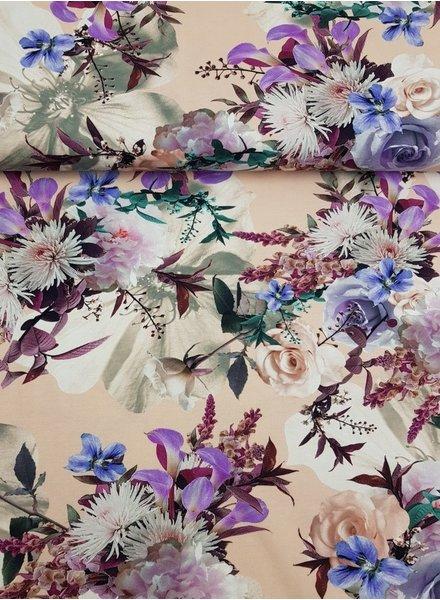 pink flowergarden - tricot