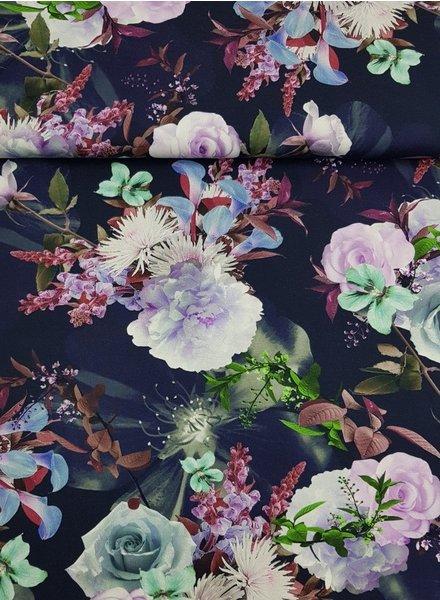 navy flowergarden - tricot