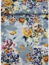 lightblue flowergarden - tricot