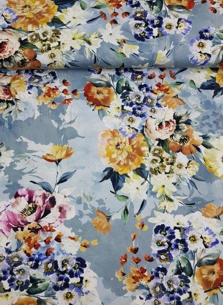 lightblue flowergarden - jersey