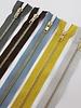 Black metallic zipper - 40 cm