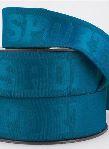M nachtblauw 3D sport elastiek - 40 mm