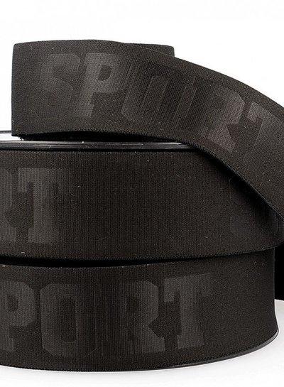 black 3D sport elastic ribbon - 40 mm