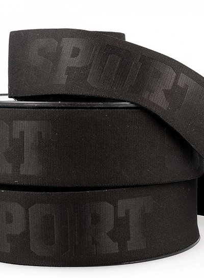 zwart 3D sport elastiek - 40 mm