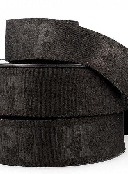 M black 3D sport elastic ribbon - 40 mm