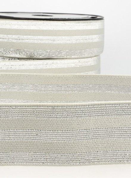 grijs zilver gestreept - taille elastiek 40 mm