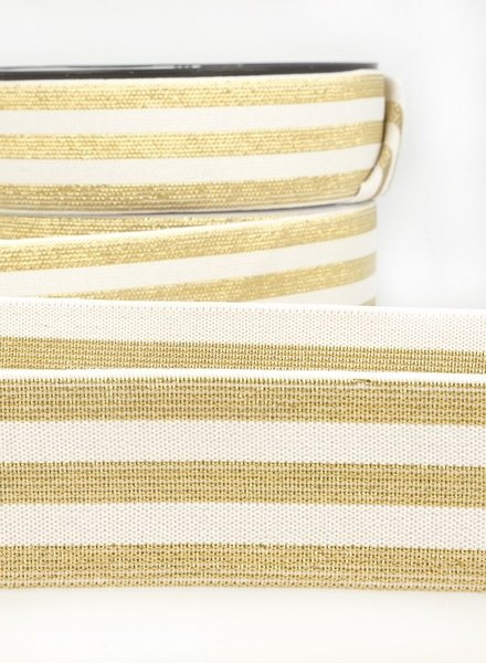M creme goud gestreept - taille elastiek 40 mm
