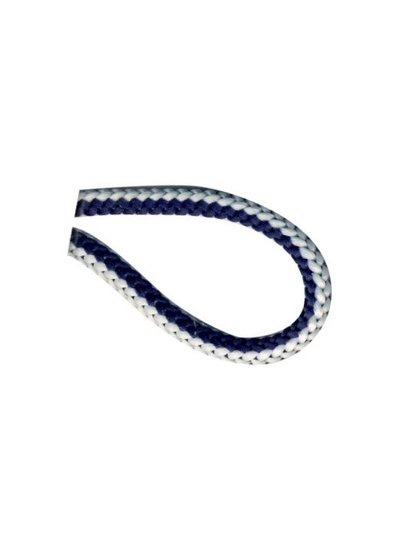 navyblue and white knitted cord 4,5 mm