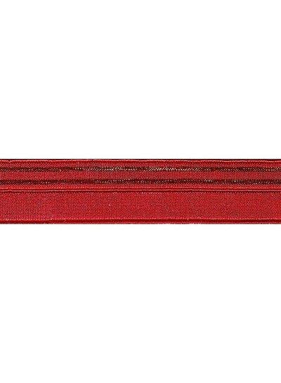 rood en goud - lingerie elastiek 17mm