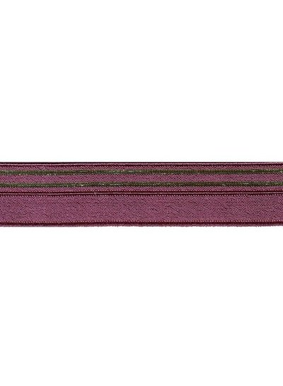 burgundy and gold - underwear elastic 17mm