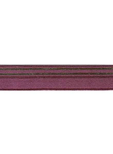 burgundy and gold - underwear elastic 17mm