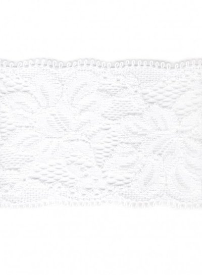 stretch lace  55 mm - white