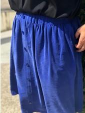 viscose slub kobaltblauw