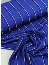 blue stripes - viscose crepe