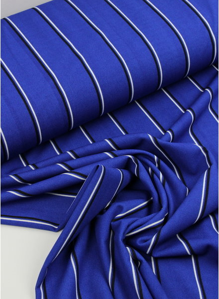 blue stripes - viscose crepe