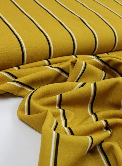 ocre stripes - viscose crepe