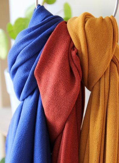 cobalt -  knitted viscose crepe