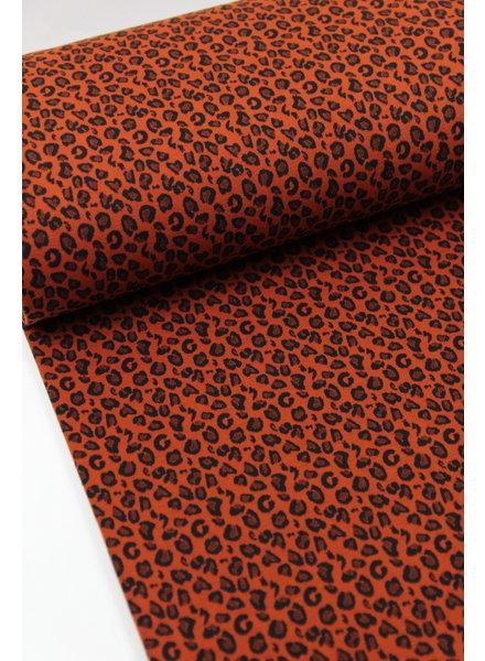 marsala mini leopard - jacquard jersey