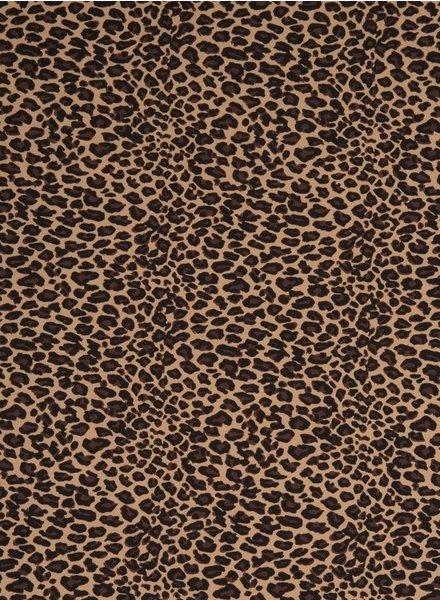 brown leopard - jersey