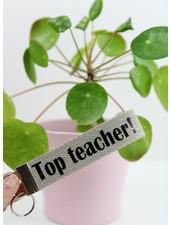 sleutelhanger 'top teacher'
