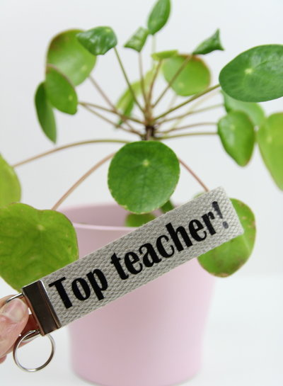 sleutelhanger 'top teacher'
