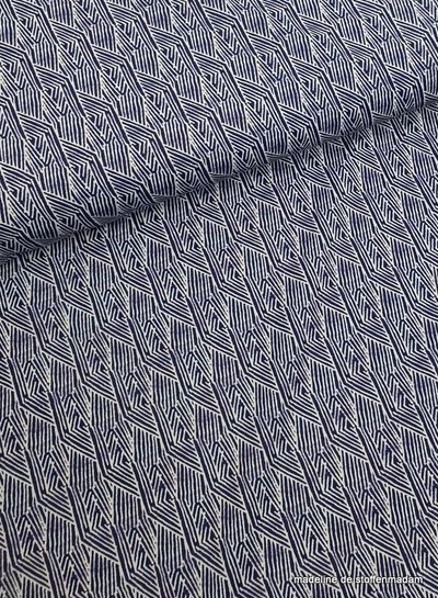blue striped swimsuit fabric