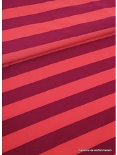 marsala/coral striped swimsuit fabric