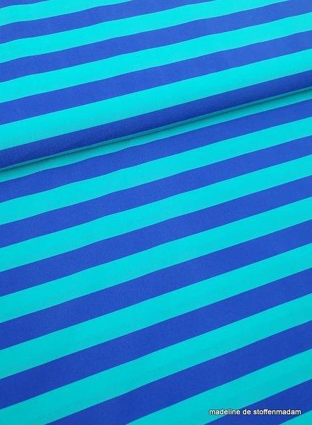 turquoise/blauw strepen badpak