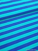 turquoise/blue striped swimsuit fabric