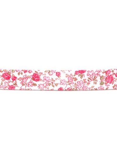 Liberty look - pink green - biais binding