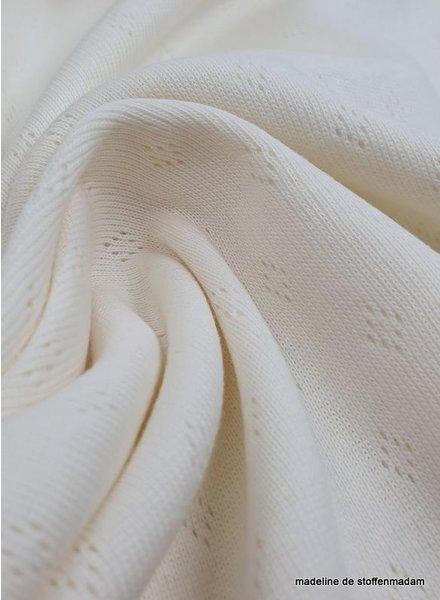 ecru knitted fabric
