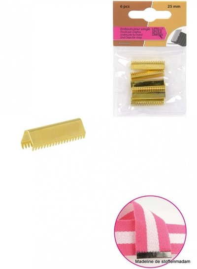 riemklem goud 30 mm verpakt per 6