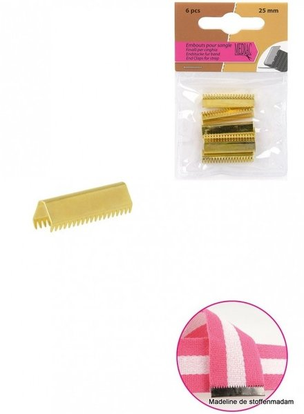End claps for strap - gold (6 pcs)