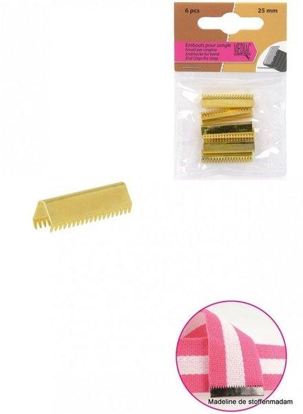riemklem goud 40 mm verpakt per 4