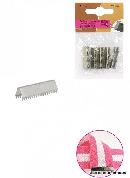 riemklem zilver 40 mm verpakt per 4