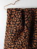 ocre leopard - geweven jacquard