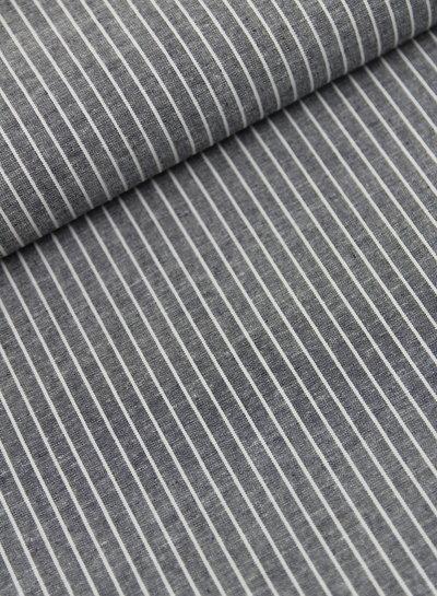 vertical stripes - linen viscose mix