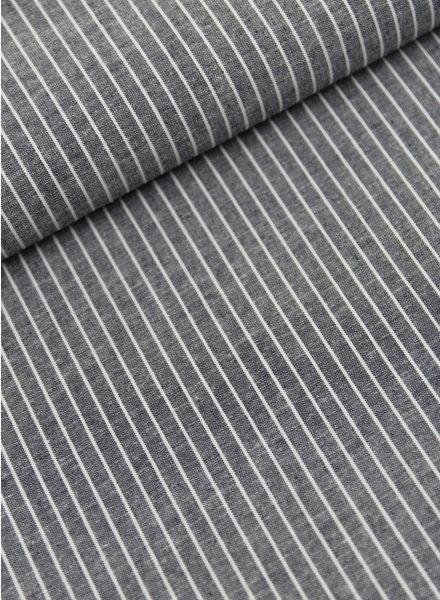 verticale strepen - linnen viscose mix