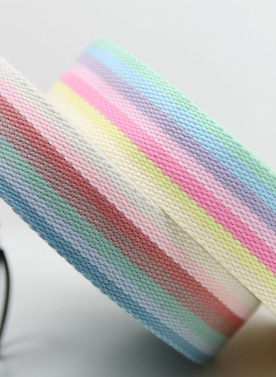 regenboog blauw tassenband 40 mm