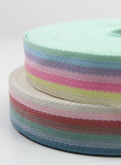 rainbow blue - bag webbing 40 mm