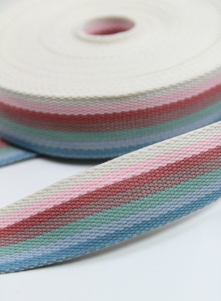 rainbow blue - bag webbing 40 mm