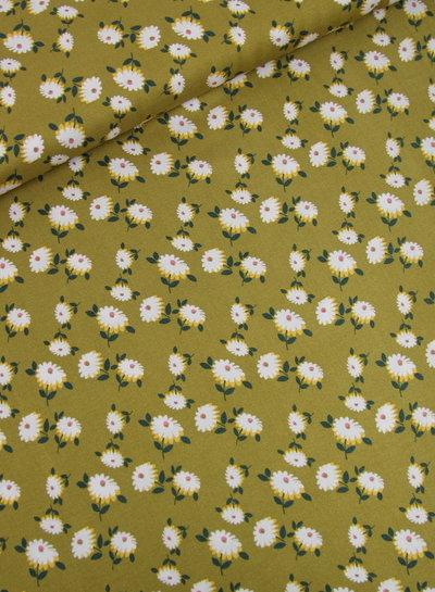 Copy of petrol retro flower moss crepe