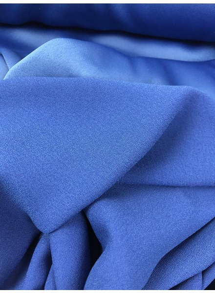 cobalt blue crepe envers satin - limited edition